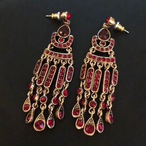 Red & gold Cleopatra earrings